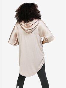 Béžové dlhé oversize tričko s kapucňou Ivy Park