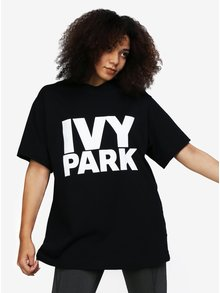 Čierne oversize tričko s potlačou Ivy Park