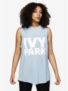 Světle modré oversize tílko s potiskem Ivy Park