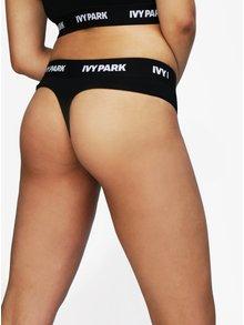 Černá tanga Ivy Park