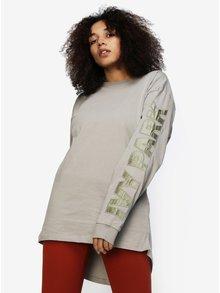 Béžové tričko s potlačou a dlhým rukávom Ivy Park