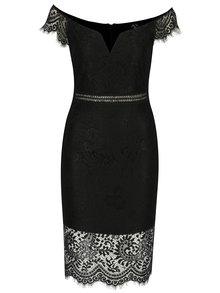 Čierne puzdrové čipkované šaty s tvarovaným dekoltom AX Paris
