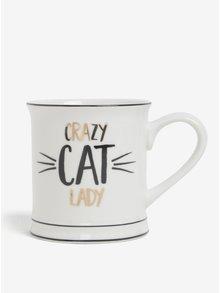 Krémový hrnek Crazy Cat Lady Sass & Belle