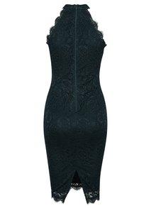 Petrolejové krajkové šaty bez ramínek AX Paris