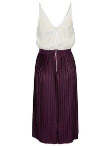 Krémovo-fialové šaty s plisovanou sukňou AX Paris