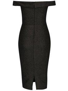 Čierne trblietavé puzdrové šaty s tvarovaným dekoltom AX Paris