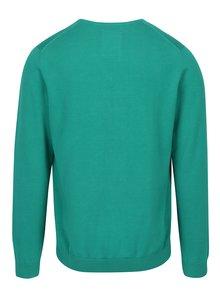 Pulover verde cu decolteu anchior si logo pentru barbati s.Oliver