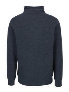 Bluza albastra cu guler inalt si print pentru barbati s.Oliver