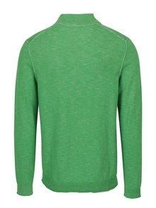 Pulover verde melanj cu guler inalt pentru barbati s.Oliver