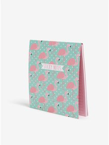 Set de sticky notes cu flamingo - Sass & Belle