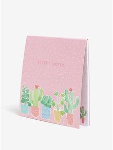 Súprava poznámkových lepiacich bločkov s motívom rastlín Sass & Belle
