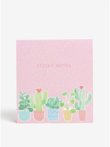 Set de sticky notes cu cactusi - Sass & Belle