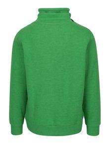 Bluza verde cu print text si guler inalt pentru barbati s.Oliver