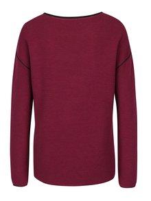 Fialový dámsky rebrovaný sveter s.Oliver