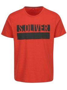 Červené pánské regular fit tričko s potiskem s.Oliver