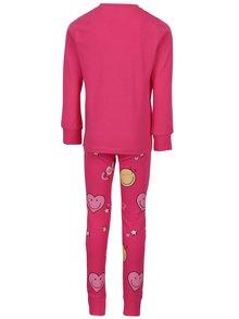 Ružové dievčenské pyžamo s potlačou name it Happy