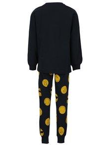 Tmavě modré klučičí pyžamo s potiskem name it Happy
