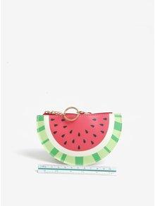 Červená peněženka na mince s motivem melounu Sass & Belle
