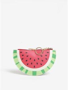 Červená peňaženka na mince s motívom melónu Sass & Belle