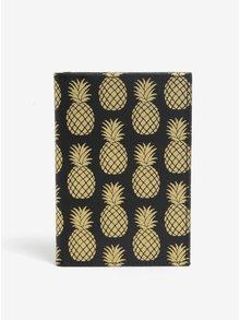 Husa pentru documente cu print ananas - Sass & Belle