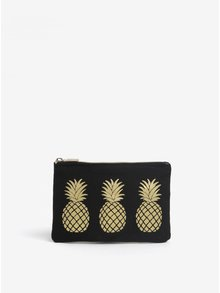 Čierna peňaženka na mince s motívom ananásov Sass & Belle