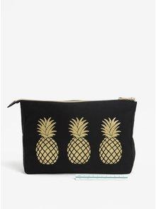 Portfard pentru cosmetice cu print ananas - Sass & Belle