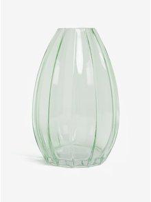 Světle zelená skleněná váza Sass&Belle