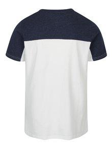 Modro-biele pánske tričko s nášivkou Jimmy Sanders