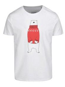 Biele detské tričko ZOOT Kids Ľadový medveď