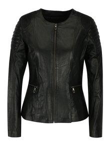 Černá kožená dámská bunda Jimmy Sanders