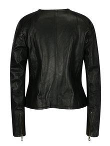 Černý dámský kožený křivák s kapsami Jimmy Sanders