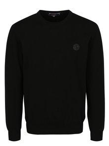 Čierny pánsky sveter s nášivkou Jimmy Sanders