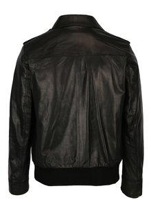 Čierna pánska kožená bunda Jimmy Sanders Armada