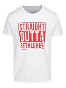 Bílé pánské tričko ZOOT Original Straight outta betlehem