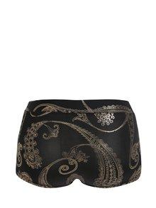 Černé sportovní vzorované kraťasy s vysokým pasem fitness wear Aysha