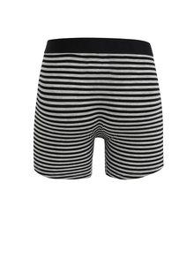 Boxeri negru & alb cu model in dungi  pentru barbati -  SAXX Vibe modern fit