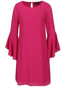 Tmavě růžové šaty se zvonovým rukávem Dorothy Perkins