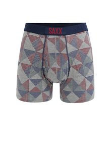 Boxeri gri cu model geometric - SAXX Ultra Regular fit