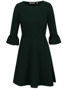 Zelené šaty s 3/4 zvonovým rukávom Dorothy Perkins Petite