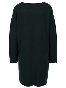Rochie - pulover verde inchis cu buzunare -  s.Oliver