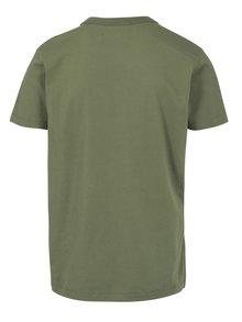 Zelené pánske tričko s potlačou Kings of Indigo Darius