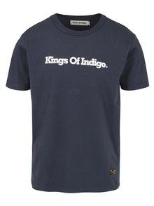 Modré pánské tričko s potiskem Kings of Indigo Darius