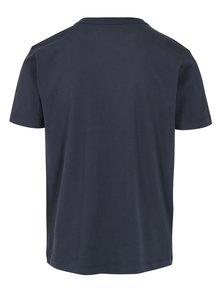 Modré pánske tričko s potlačou Kings of Indigo Darius