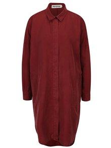 Vínové košilové šaty s dlouhým rukávem Kings of Indigo Juliana