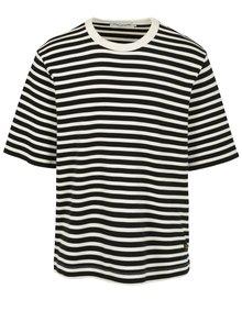 Krémovo-černé pánské pruhované tričko Kings of Indigo Gopal