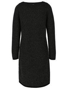 Rochie - pulover neagra cu aspect stralucitor - s.Oliver