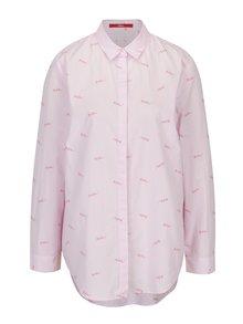 Camasa asimetrica roz pal cu dungi - s.Oliver