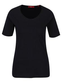 Tricou bleumarin din bumbac pentru femei - s.Oliver