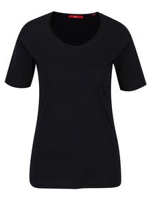 Tmavomodré dámske tričko s krátkym rukávom s.Oliver