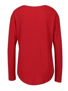 Červené dámske voľné tričko s dlhým rukávom s.Oliver